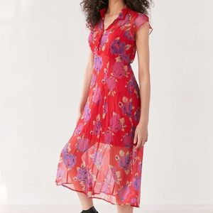 Cooperative Space Cowgirl Midi Dress Floral Print